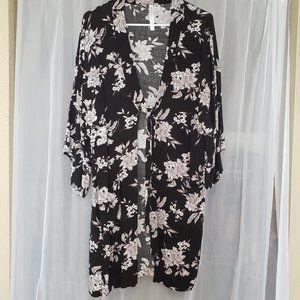 Spiritual Gangster Black Floral Robe